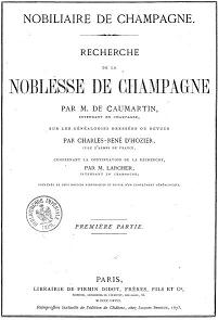 Armorial of Champagne by Caumartin